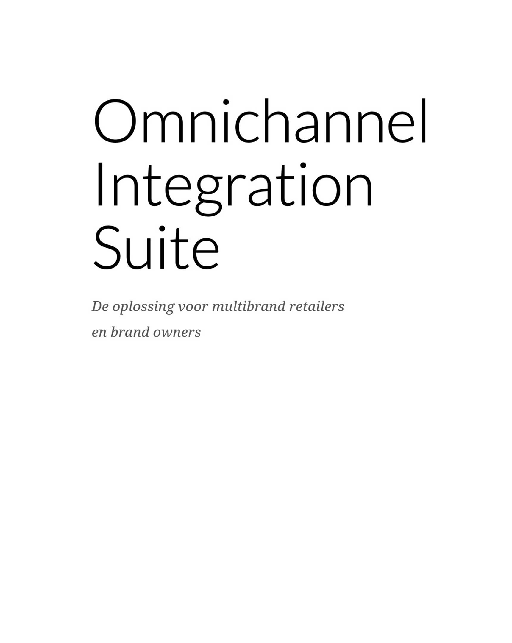 Omnichannel Integration Suite